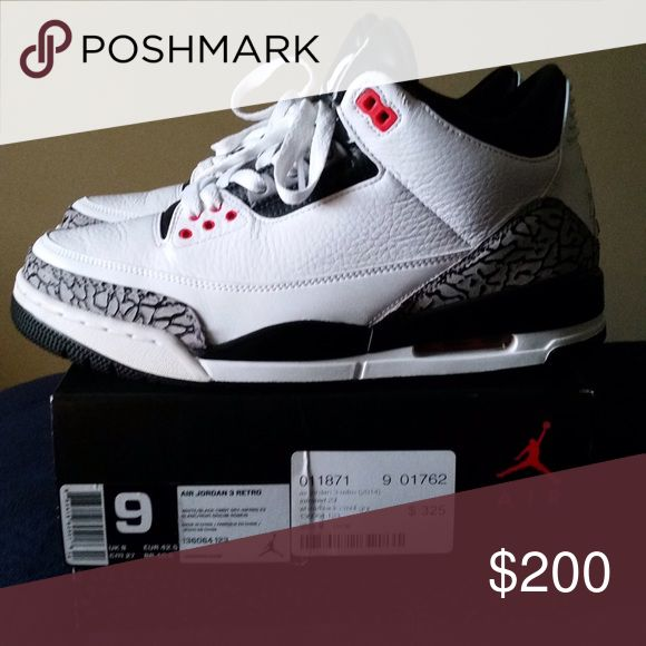 Jordan retro 3 authentic flight Club purchase Authentic flight club purchase as shown on sticker Jordan Shoes Sneakers