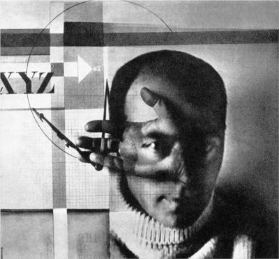 Self portrait by Russian artist El Lissitzky (1890-1941). via Wiki Paintings