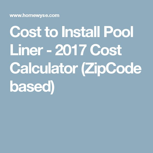 17 best ideas about pool liners on pinterest swimming for Swimming pool cost calculator