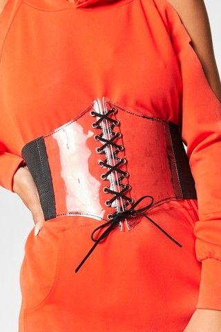 Quinn Clear PU Corset Belt