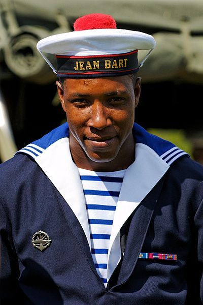 Winter uniform of the French navy for a seaman of the anti-air frigate Jean Bart.