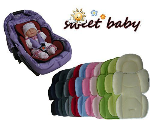 Sweet Baby SOFTY MAXI ** NOIR ** Appui-Tête — 2 côtés hiver + éte — Réducteur bébé universel / siège auto / poussette et plus: Dès la…