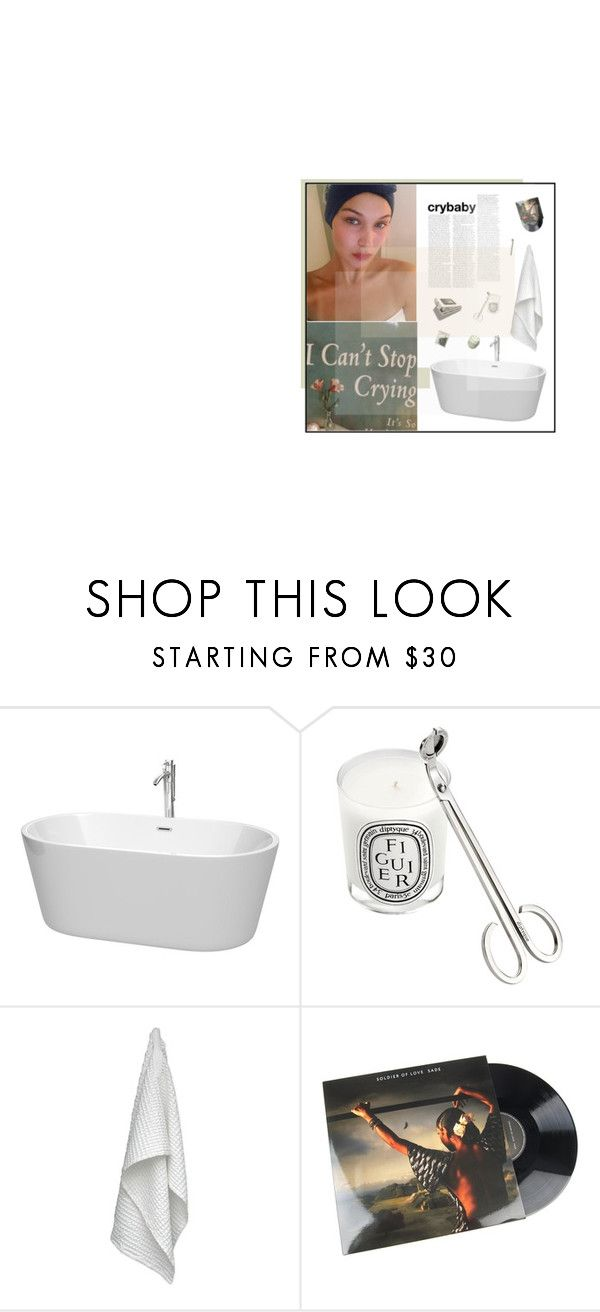 """""""things I only tell you in the nighttime babe, while I'm sitting here watching you"""" by xo-jaz ❤ liked on Polyvore featuring Wyndham Collection, Diptyque and The Organic Company"""