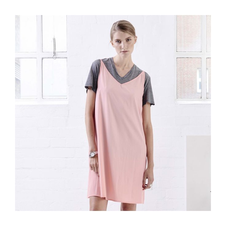 Recycled polyester dress TRIANGLE PEACH.