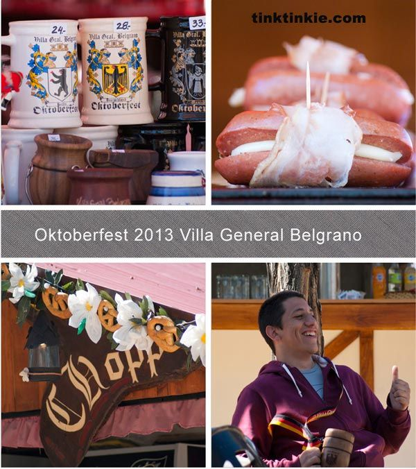 Opening of the Oktoberfest 2013 in Villa General Belgrano on 4 Oct 2013.