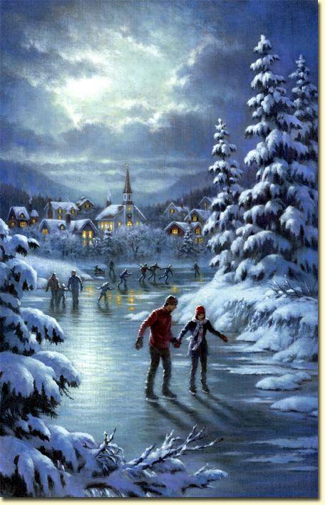 Em certos países, há rios e canais que gelam no Inverno, e pode-se fazer esqui neles.