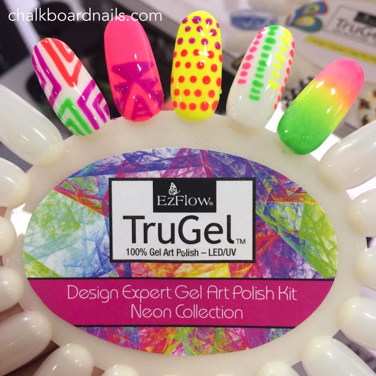 Cosmoprof North America 2014: Gels and More (Including Swatch Strips, a Nail Printer, and Glitter Tattoos!) | Chalkboard Nails | Nail Art Blog
