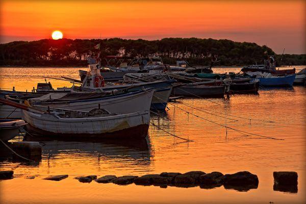 Sunset in #PortoCesareo, #Lecce, #Puglia, #Viaggi #Mare #Tramonto #Turismo #Italy  Photograph by Massimiliano Manno