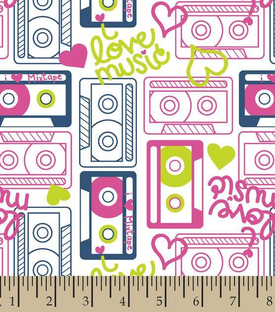 Snuggle Flannel Fabric- Cassettes