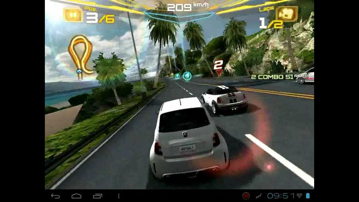 Asphalt 7:Heat on hp touchpad cm9 android (+playlist)