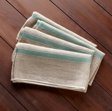 PROVENCE NAPKINS, SET OF 4 - Table Linens - Tabletop - Furniture & Decor | Robert Redford's Sundance Catalog