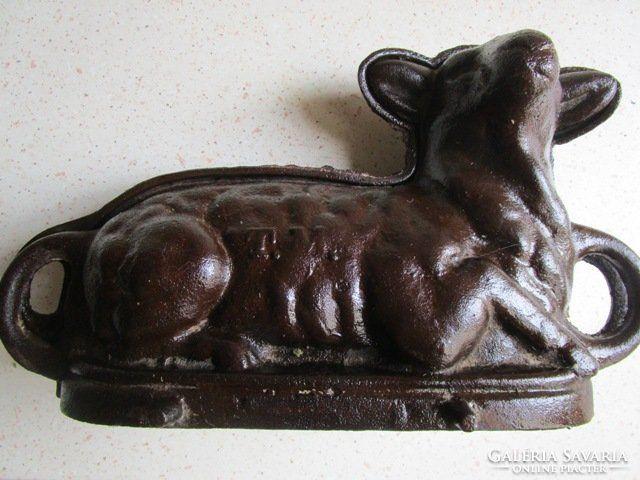 HÚSVÉT óriási öntöttvas sütőforma BÁRÁNY 1902