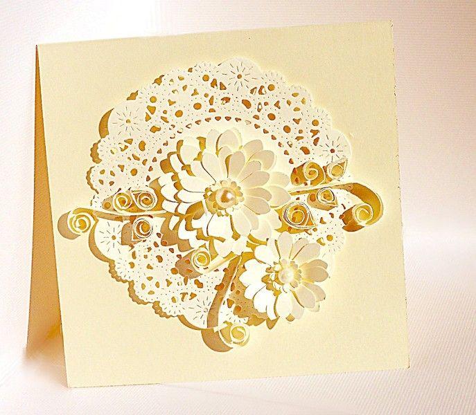 Set of 5 handmade, polish christening invitations w Katrzynka na DaWanda.com