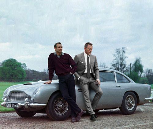 Sean Connery, James Bond 007 Standing Next To His Original