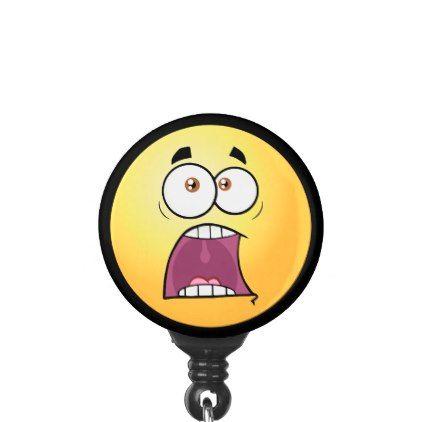 #Screaming Emoji Name Badge Holder - #office #gifts #giftideas #business