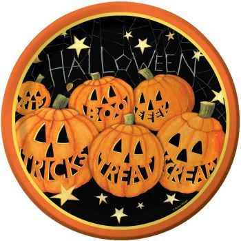 Pumpkin Smiles 9-inch Plates  sc 1 st  Pinterest & 32 best Halloween China Plates u0026 Dishes images on Pinterest | China ...