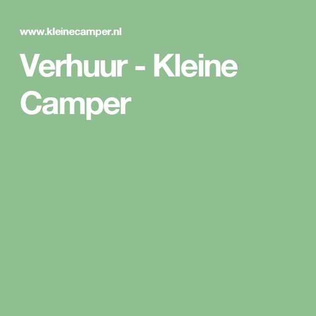 Verhuur - Kleine Camper