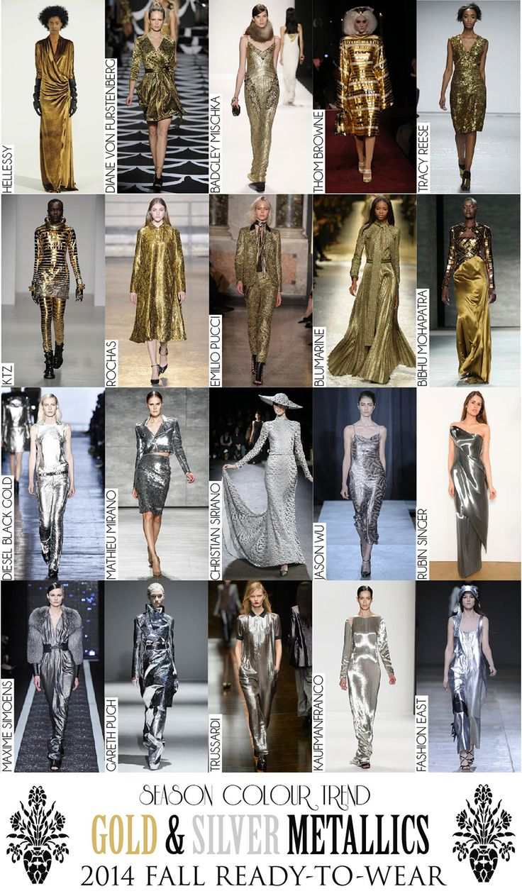 Colour Trend - 2014 Fall RTW Collection Review (Autumn/Winter) - Gold & Silver Metallics