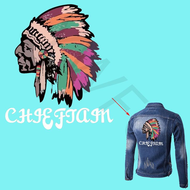 New Fashion Heat Transfer Personality Skull Skeleton Indian Iron On Patches For DIY Clothes T-shirt Brand Logo Patch Applied