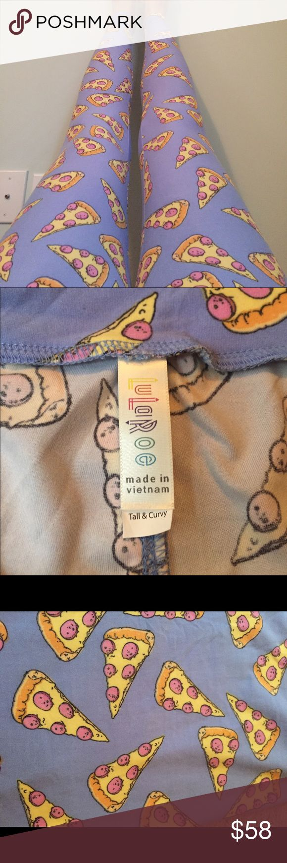 NEW TC Lularoe Pizza Legging These are NEW Lularoe TC pepperoni pizza leggings. Blue background with yellow pie slices. So cute, make an offer! LuLaRoe Other