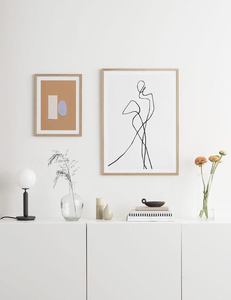 постеры минимализм в интерьере