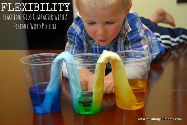 Flexibility is our character development word of the week.Today I chose a fun science experiment about absorbency to help in teaching more about flexibility.