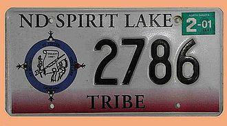US Nummernschild ND Spirit Lake - original - Hausnummern und Schilder online kaufen