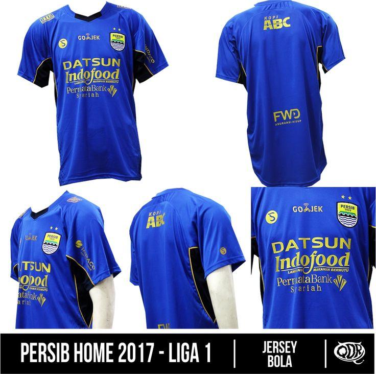Persib Home 2017 (Tanpa Nama) Bahan: Dry-fit printing: sublimasi untuk pemesanan: BBM D5443117 Qdr online shop WA/LINE 081222970120