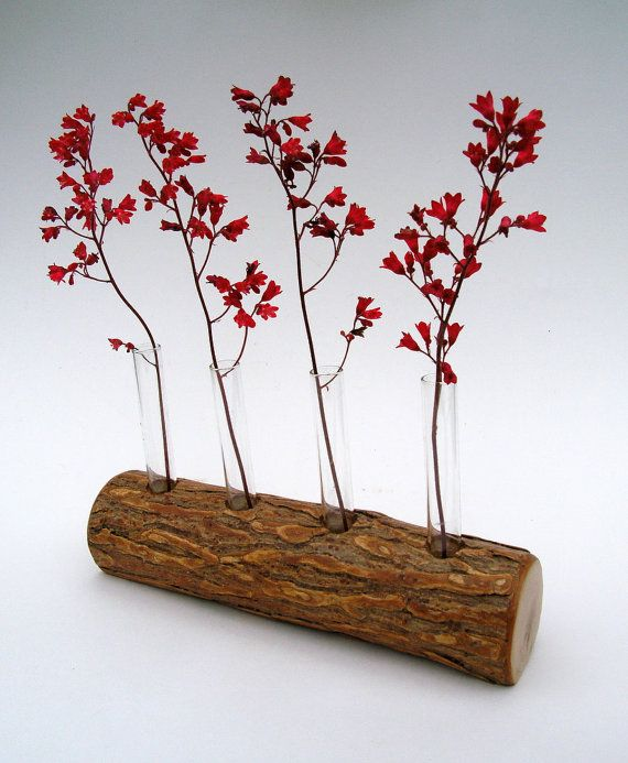 Rustic Vase for 4 Flowers Handmade of Willow by TheBentTreeGallery, $36.00