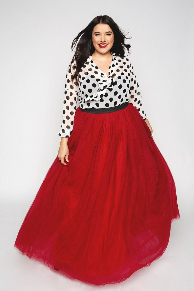 Plus Size Clothing for Women - Society+ Premium Tutu - Long Red - Society+ - Society Plus - Buy Online Now! - 2