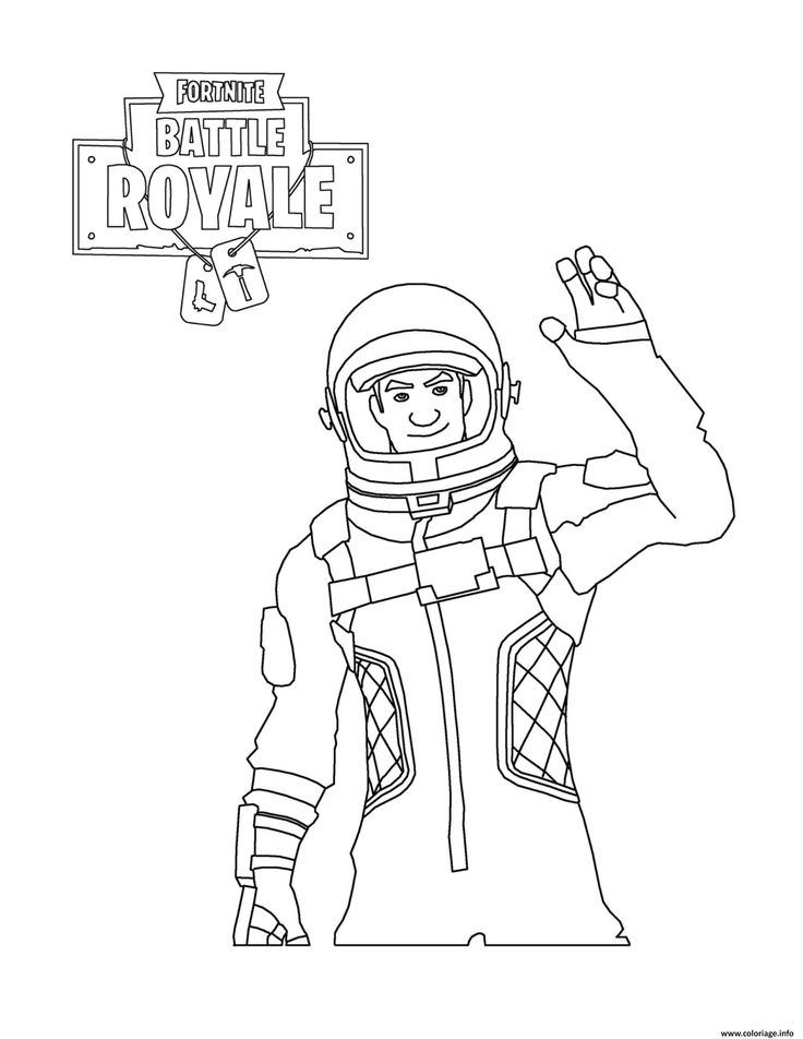 Printable Fortnite Coloring Pages
