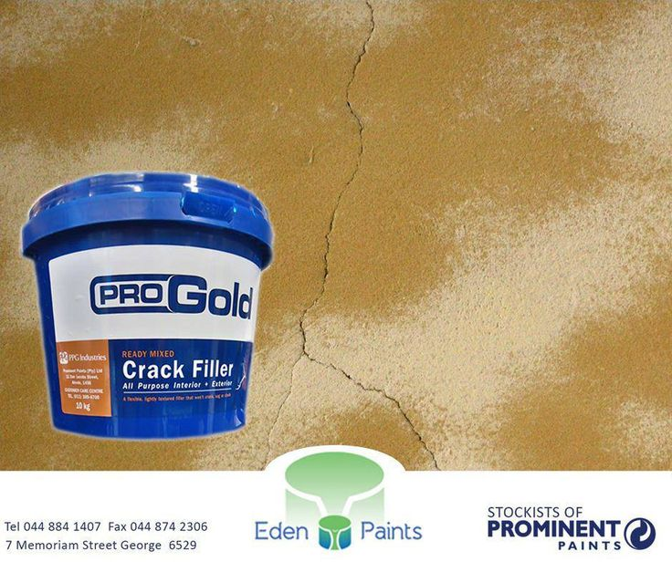 Pro Gold Ready Mixed Crack Filler is an off-white, ready-mixed emulsion-bound filler in paste form. It provides a tough, flexible, weather-resistant filling for both interior and exterior surfaces. Get it at #EdenPaints #ProGold #CrackFiller