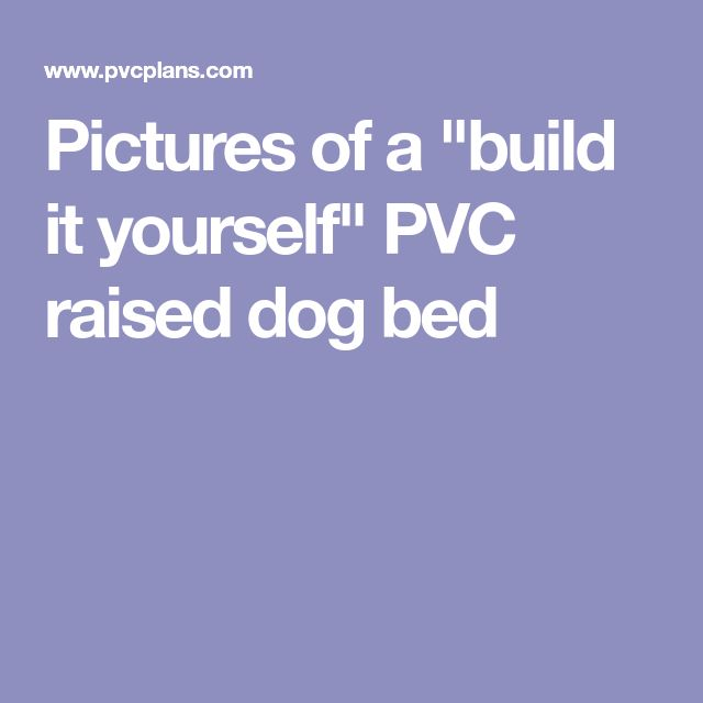 """Pictures of a """"build it yourself"""" PVC raised dog bed"""