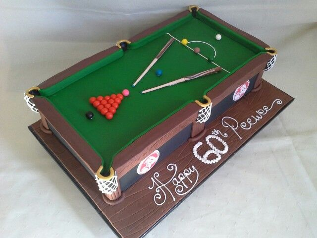 Snooker table banana cake created by MJ www.mjscakes.co.nz ...