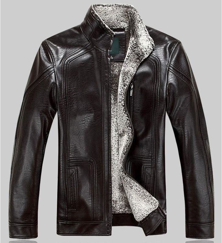 HOT!!!Winter warm motorcycle Leather jacket Men's Casual