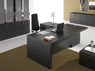Escritorio de oficina de esquina con estantes TITANO | Escritorio de oficina - Castellani.it