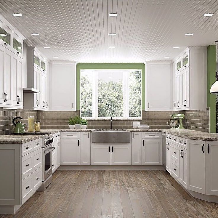 The 25 best white shaker kitchen cabinets ideas on pinterest shaker style cabinets white - Pictures of off white kitchen cabinets ...