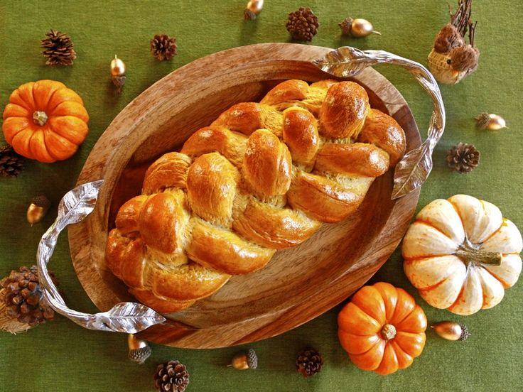 Pumpkin Challah - Autumn Holiday Recipe for Thanksgiving, Thanksgivukkah