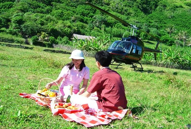 HELICOPTER.  Experience a challenging adventure in Bali by taking in a bird's eye view of smoking volcanoes, highland lakes, stepped rice fields, remote beaches, towering cliffs, famous surf breaks and thousand- year-old temples. We take you to great heights in the world's most beautiful archipelago.