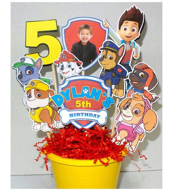 Paw Patrol Party Decoration Centerpiece por KidsInvitations en Etsy
