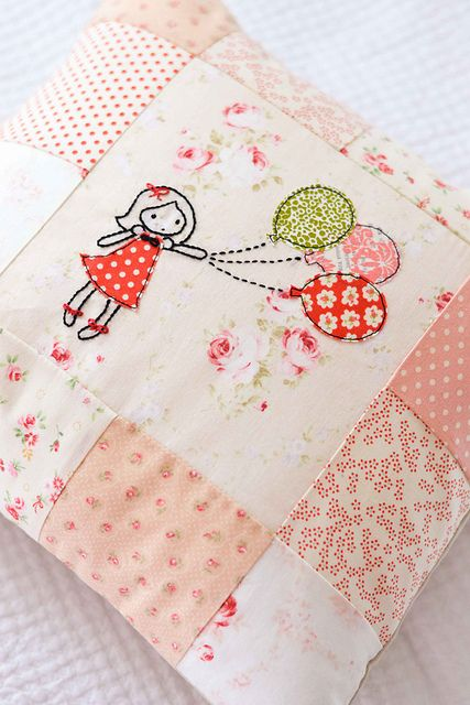 Balloon Girl Appliqué and embroidery
