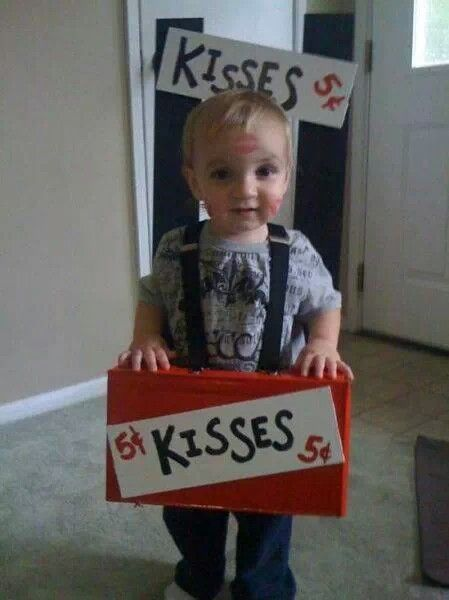 Costume kissing booth.  Soo much cuter when a kid does it!
