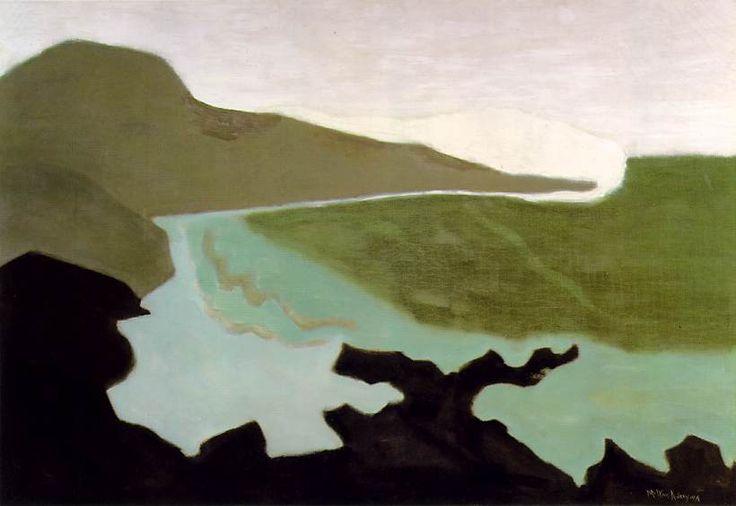 Milton Avery - Green Sea, 1954. Oil on canvas
