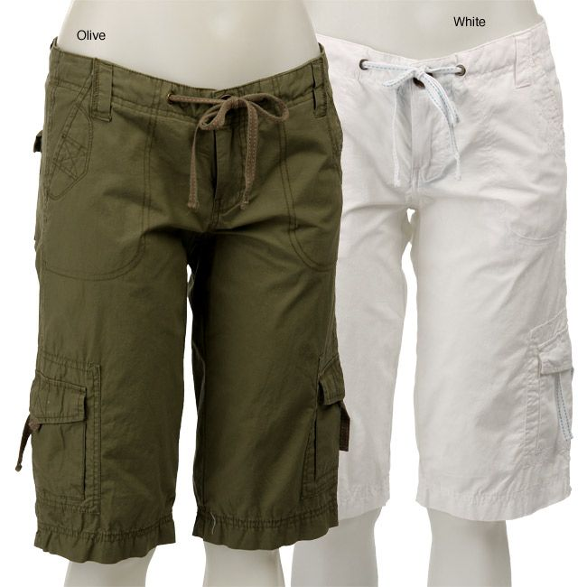 <li>Complete your wardrobe with cargo shorts from Velvet Heart</li><li>Women's clothing falls to knee</li><li>Cargo shorts have accent stitching on drawstrings</li>