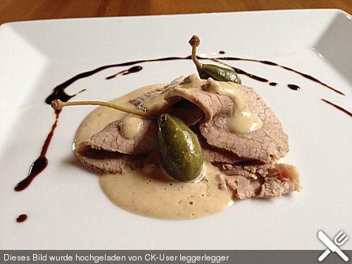 Vitello Tonnato nach Piemonteser Art, ein schönes Rezept aus der Kategorie Snacks und kleine Gerichte. Bewertungen: 73. Durchschnitt: Ø 4,5.
