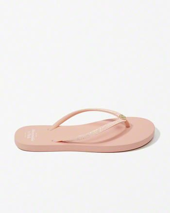 Glitter Rubber Flip Flops from Abercrombie & Fitch $24,00
