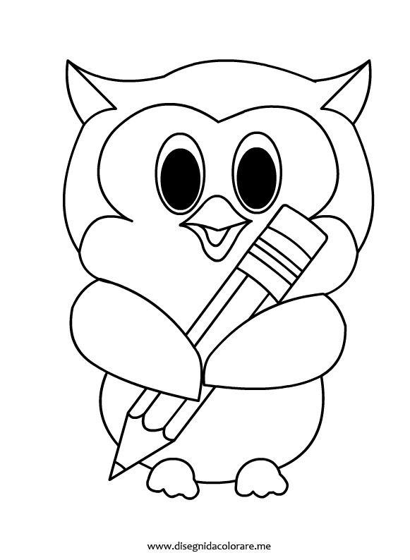 Gufetto matita Animals Coloring Pages Pinterest Owl Pages And