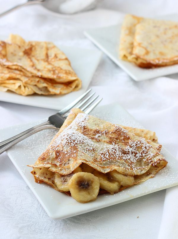 Skinny Bananas Foster Crepes ~ Easy, Healtht and Delicious!!