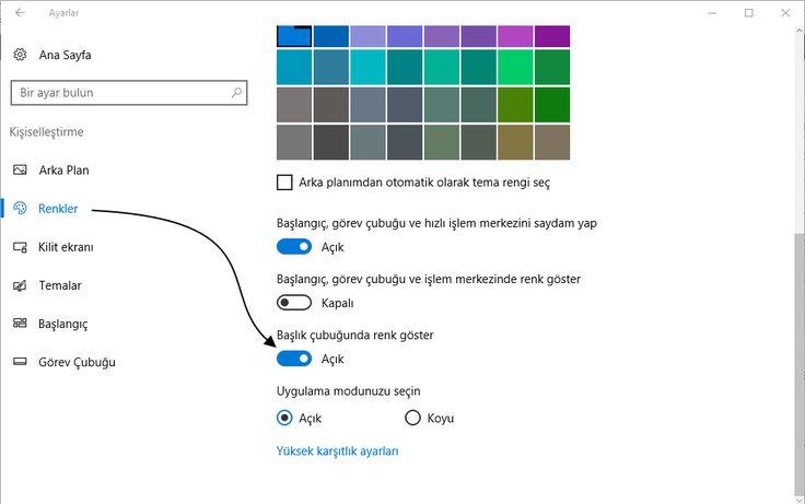 PC ÇÖZÜMLERİ : Windows'ta 10 Siyah Başlık Çubuğunu Düzeltmek