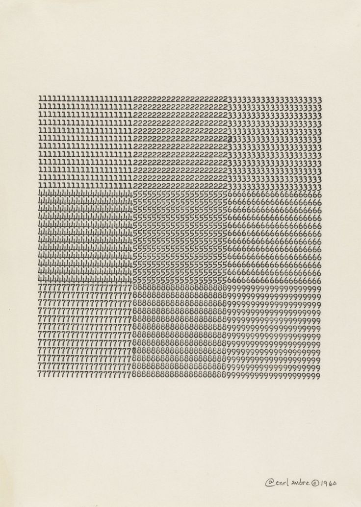 Carl Andre Untitled, 1960 typewriting on paper 11 x 8 ½ inches